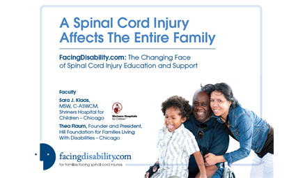 FacingDisability.com: The Changing Face of Spinal Cord Injury Education and Support