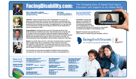 FacingDisability.com: The Changing Face of Spinal Cord Injury Education and Support in an Online World