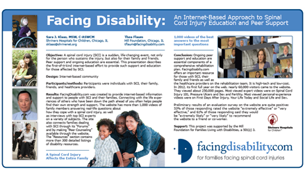 Facing Disability: An Internet-Based Approach to Spinal Cord Injury Education and Peer Support