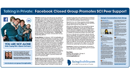 Talking in Private: Facebook Closed Group Promotes SCI Peer Support