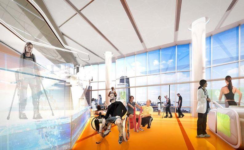 A simulation of a rehabilitation area in Ability Lab