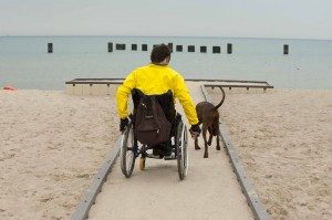 man with paraplegia