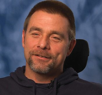 Tom, injured in 2004 at age 36, quadriplegic
