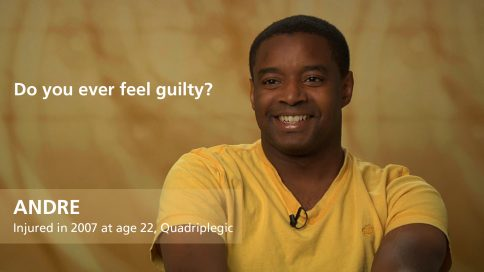 Andre - quadriplegia - do you ever feel guilty