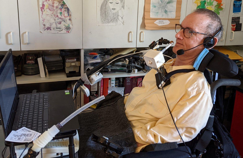 Ben Mattlin in his home office