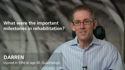 Darren - quadriplegia - your milestones in rehabilitation