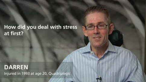 Darren - quadriplegia - dealing with stress at first