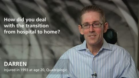Darren - quadriplegia - transition from hospital to home