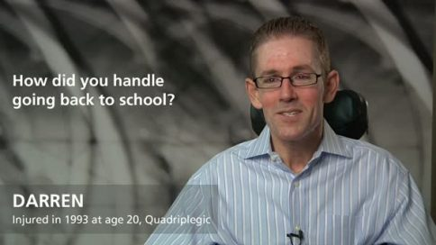 Darren - quadriplegia - How did you handle returning to school