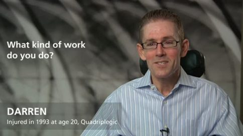 Darren - quadriplegia - what kind of work do you do?