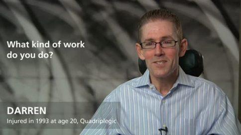 Darren - quadriplegia - what kind of work do you do?