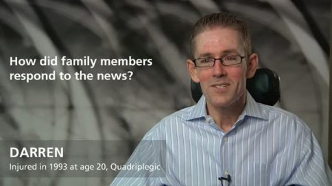 Darren - quadriplegia - how did family members respond to news