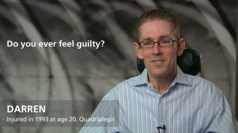 Do you feel guilty - Darren, injured at age 20, quadriplegia