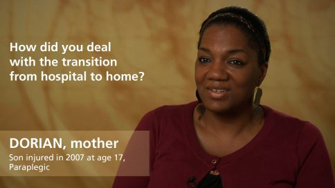 Dorian - mother of paraplegic son - transition hospital to home