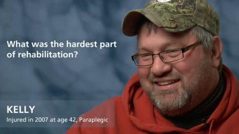 Kelly - paraplegia - hardest part of rehabilitation