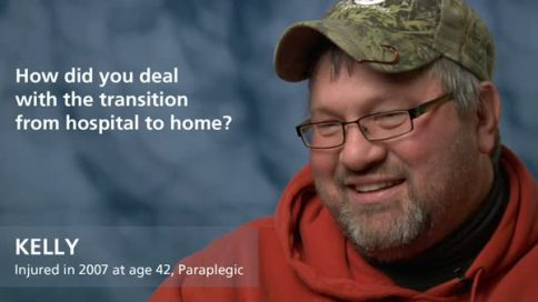 Kelly - paraplegia - transition hospital to home