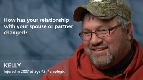 Kelly - paraplegia - relationship with spouse or partner