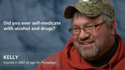 Kelly - paraplegia - did you ever self medicate alcohol or drugs